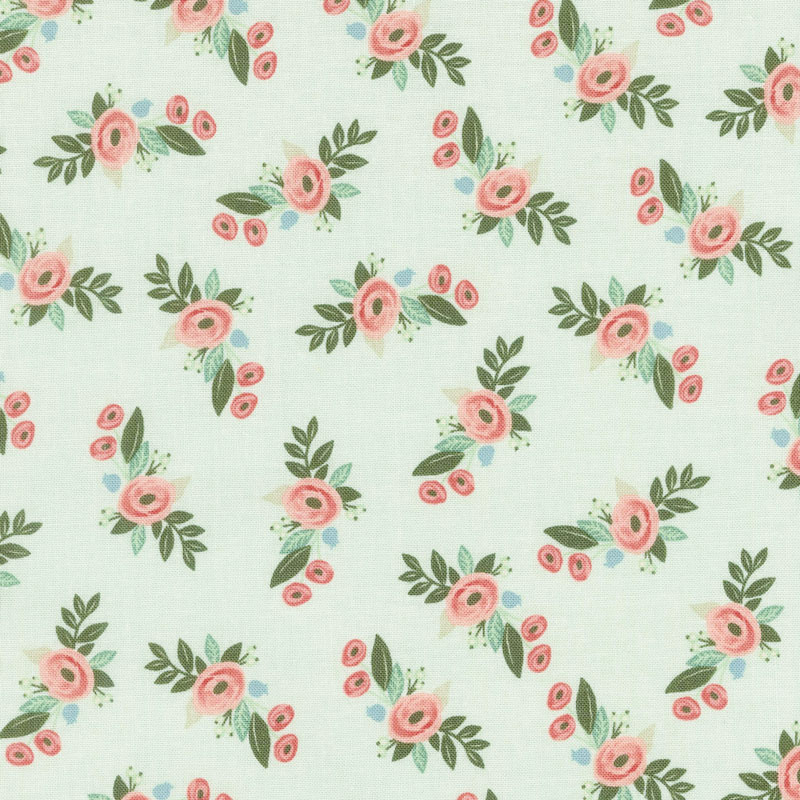 Bliss - Floral Mint Yardage