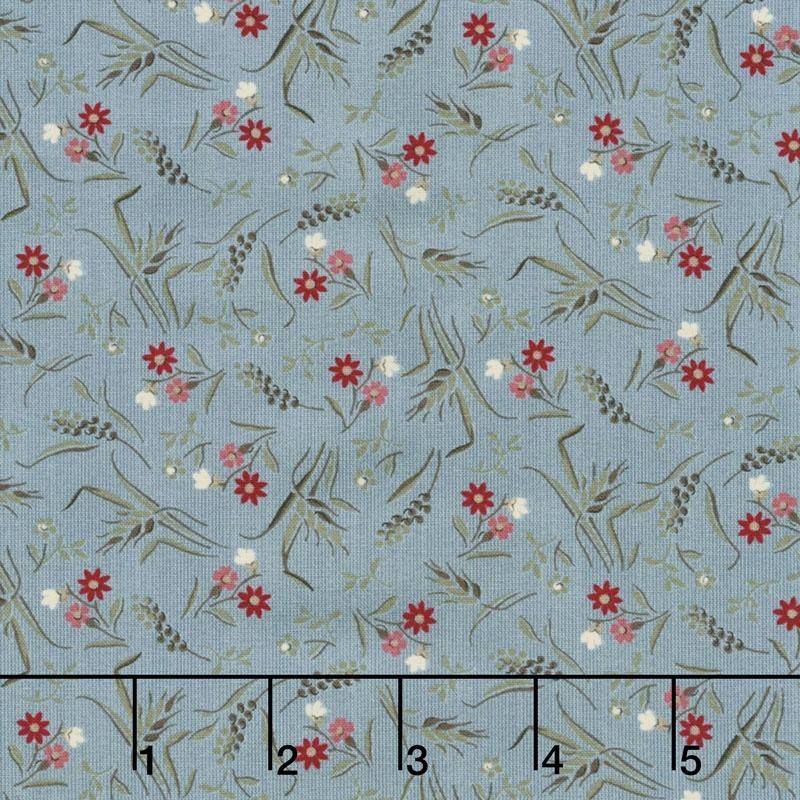 Sweet Blend Prints - Flower Field Rain Yardage