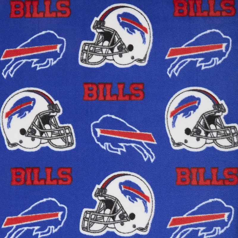 NFL Fleece - Buffalo Bills Blue Yardage