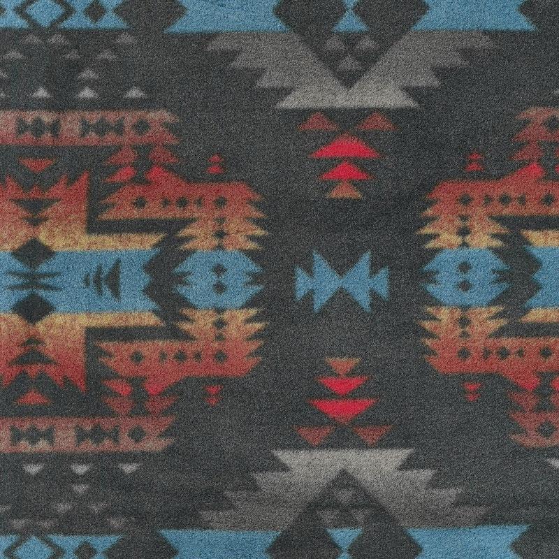 Winterfleece Prints Southwest - Canyon Black Fleece Yardage