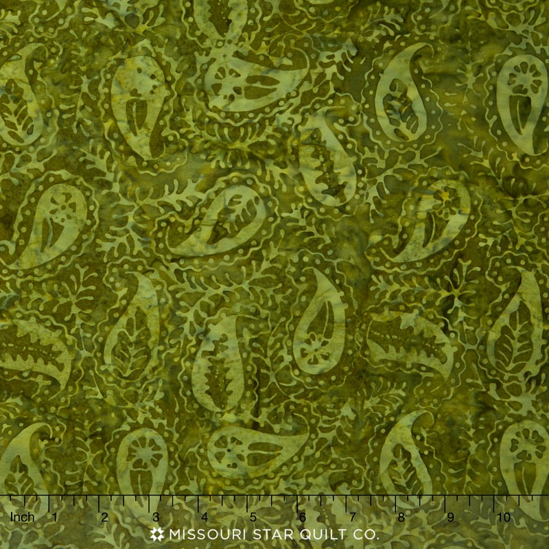 Tonga Batiks - Autumn Paisley Forest Yardage