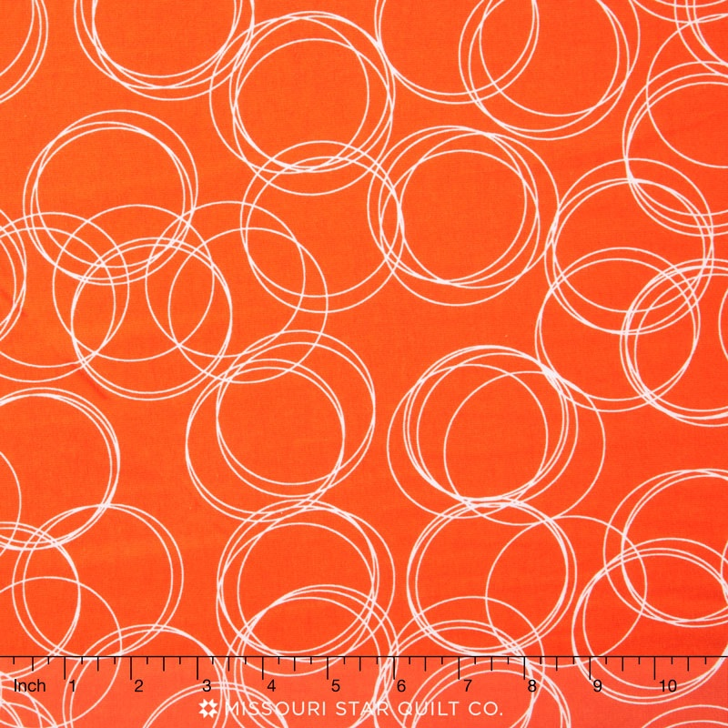Four Corners Knits - Circles Coral Yardage