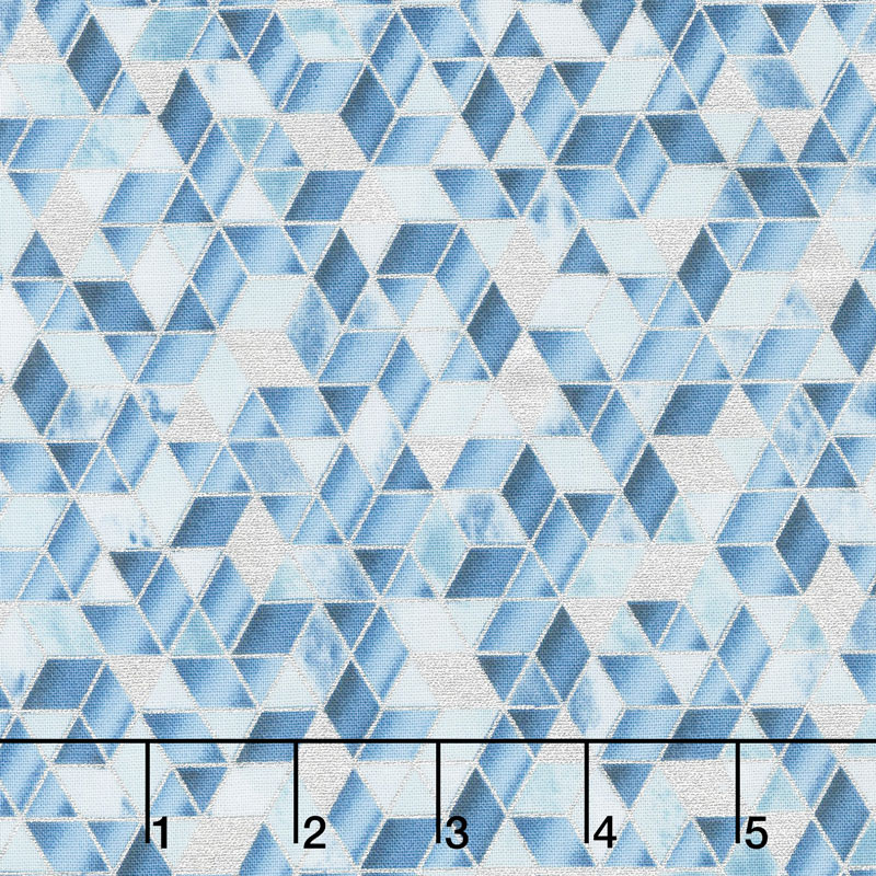 Shiny Objects - Sweet Somethings Sugar Crystal Blueberry Metallic Yardage