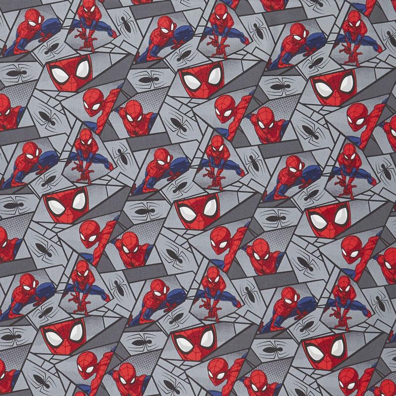 Spider-Man - Block Grey Yardage
