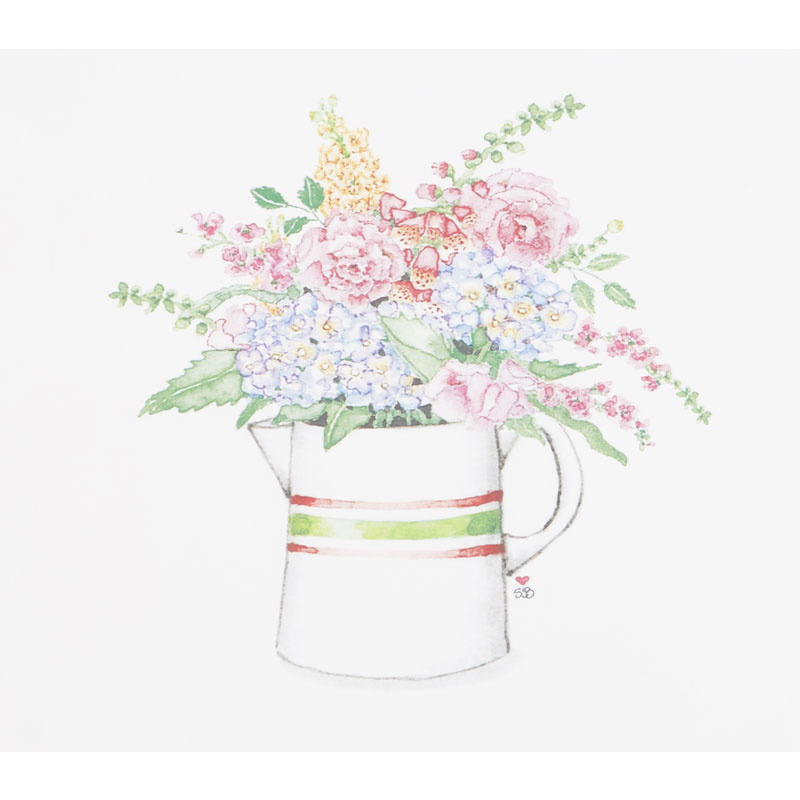 Susan Branch Antique Pitcher of Garden Flowers Digitally Printed Panel