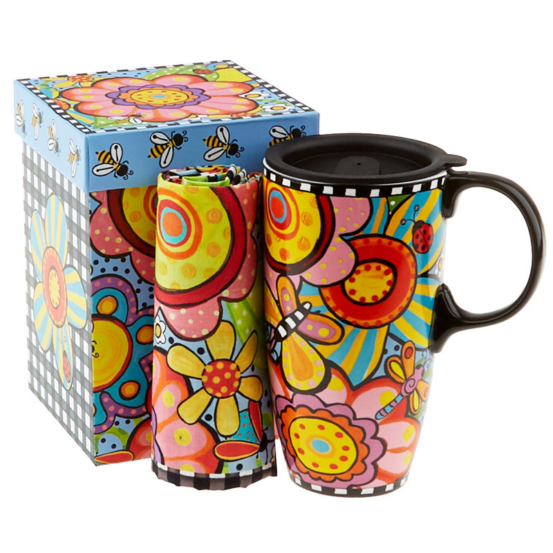 Bugapalooza Travel Mug with Lunch Tote Panel