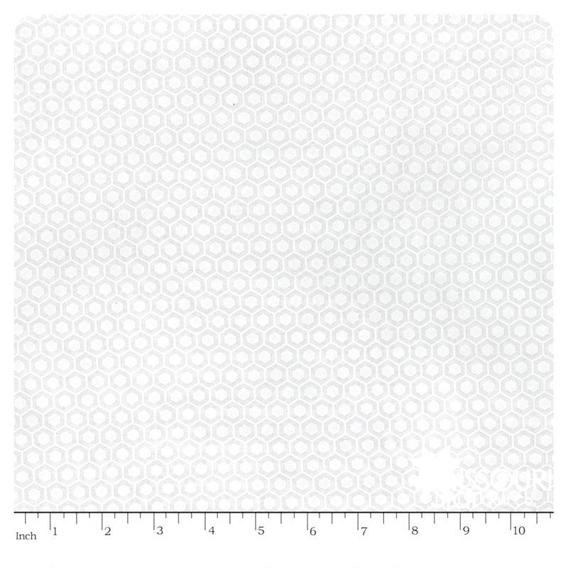 Muslin Mates - Hexagons White Yardage