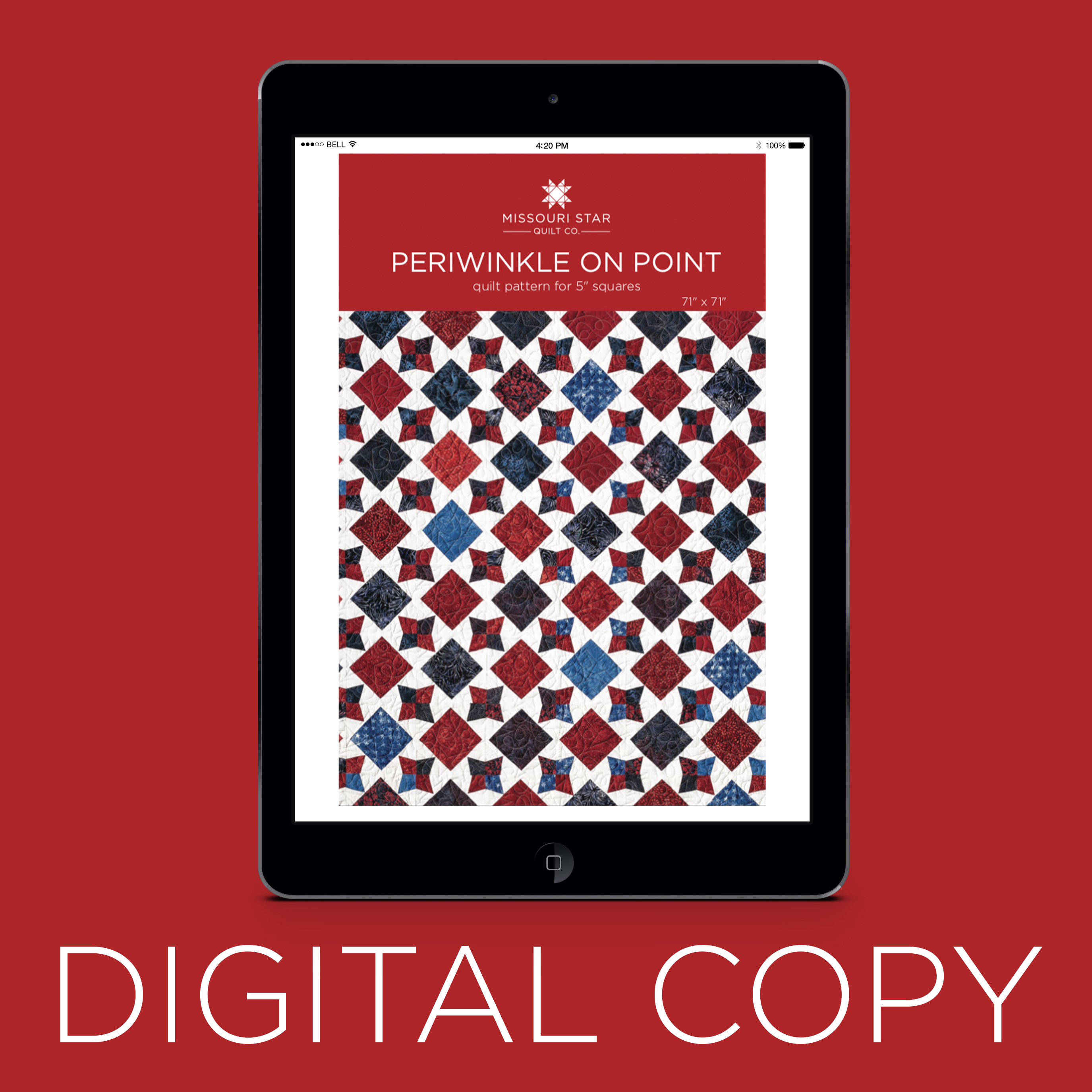 dd106d1b84 Digital Download - Periwinkle on Point Quilt Pattern by Missouri Star