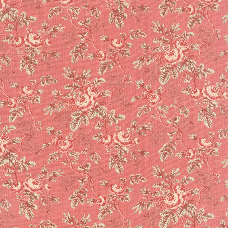 La Rose Rouge - Rosina Faded Red Yardage