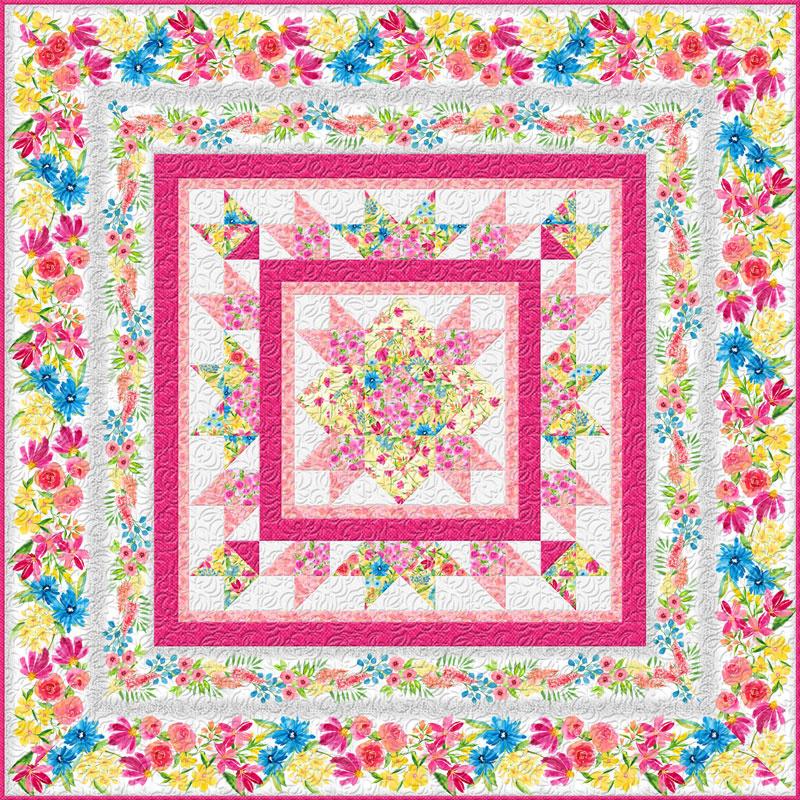 Bloom True Bed Quilt Kit