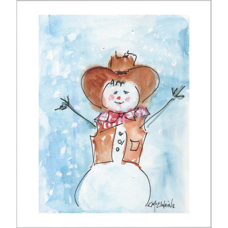 Cowboy Snowman Kit