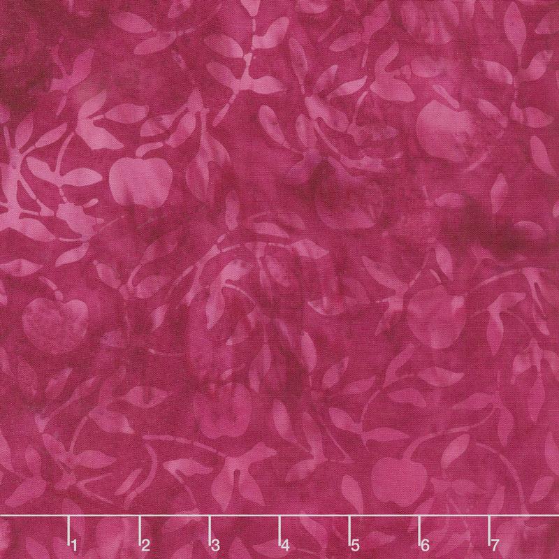 Petal Pushers Batiks - Cherries Pomegranate Yardage