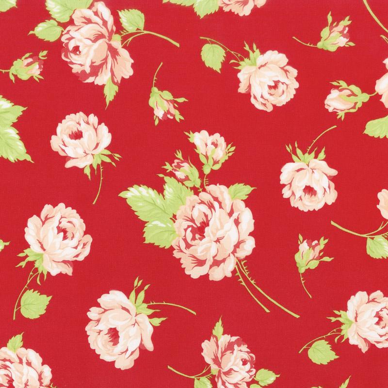 Smitten - Rosy Red Yardage