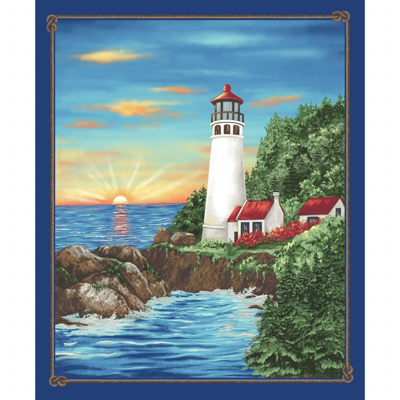 Lighthouse Wonders - Sunny Lighthouse Blue Panel