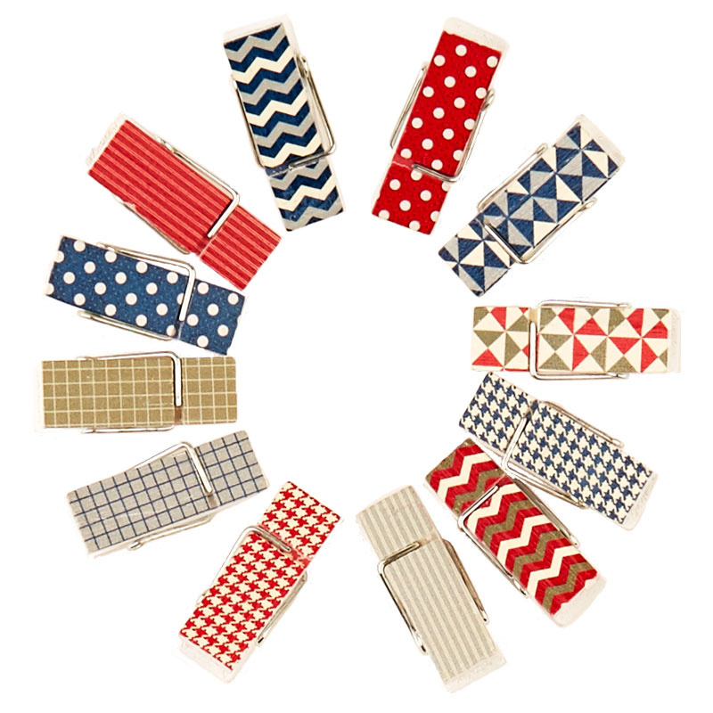 Make Your Mark Mini Clothespins - Red & Blue