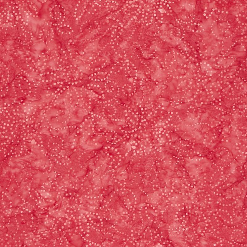 Kaleidoscope Floral Batiks - Red Pink Yardage