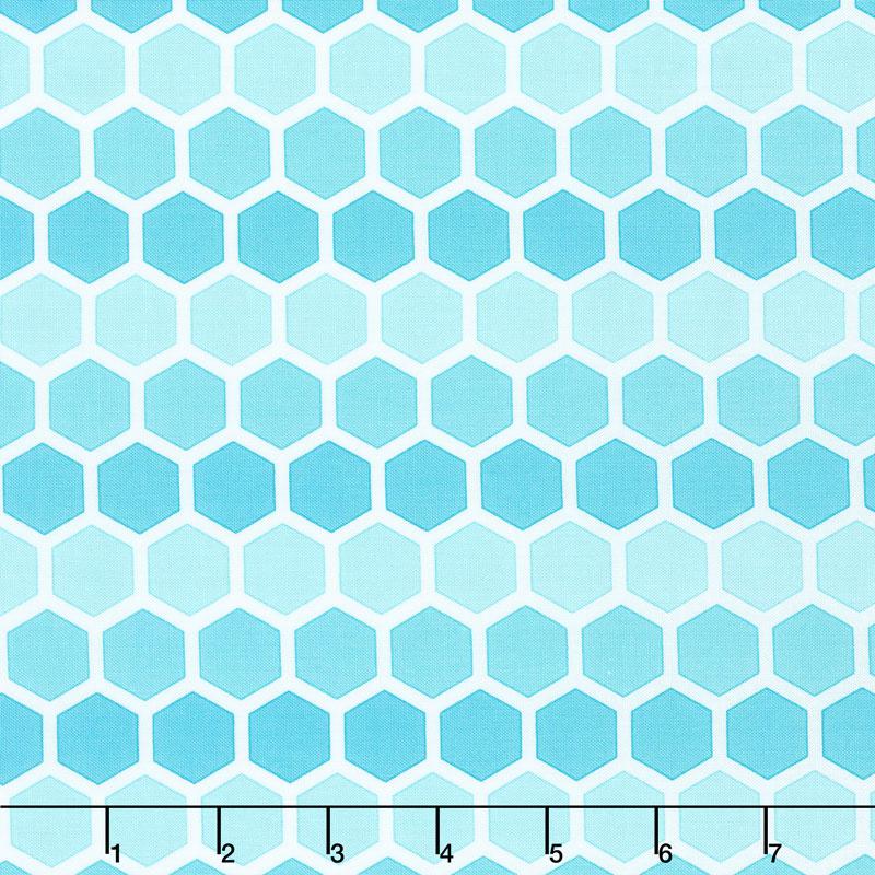 Confetti - Honeycomb Turquoise Yardage