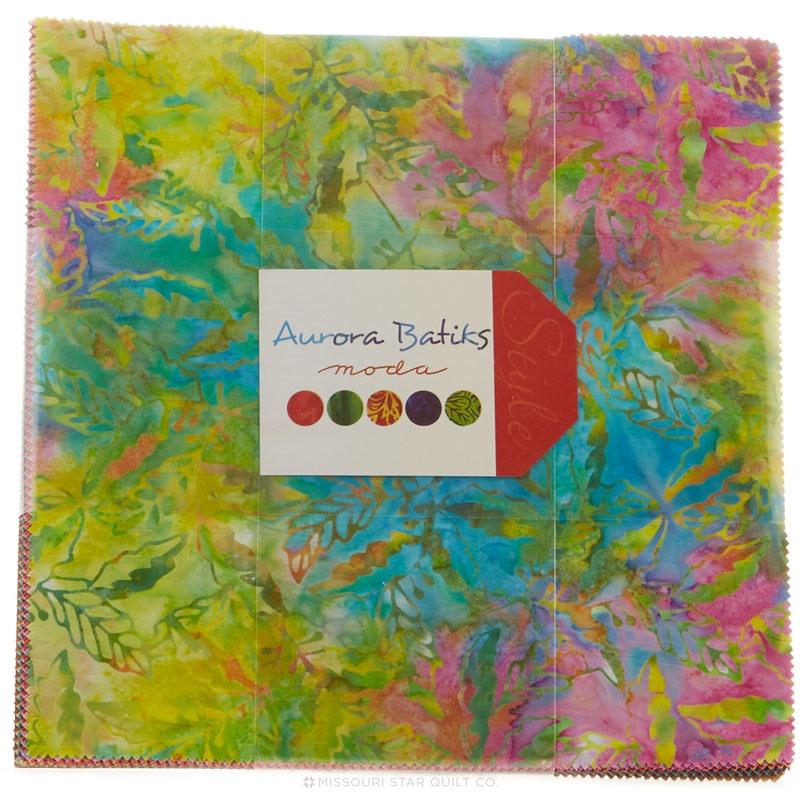 Layer Cake Quilt Material : Aurora Batiks Layer Cake - Moda Fabrics - Moda Fabrics ...