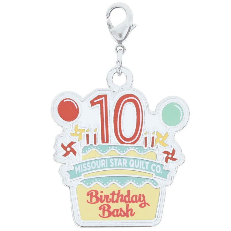 Missouri Star 10th Birthday Bash Charm