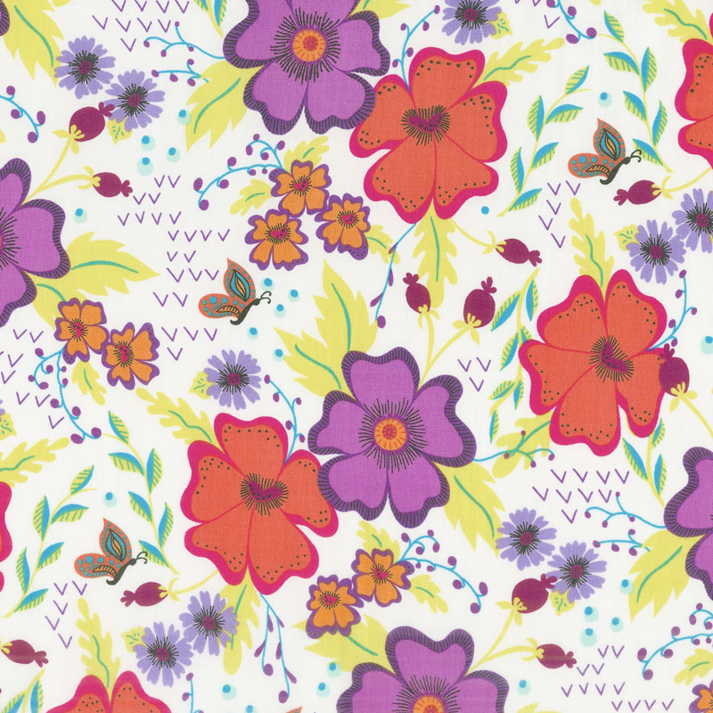 Gypsy - Gypsy Floral Cream Yardage
