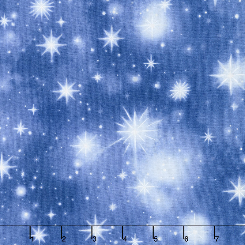 Holy Night - Twinkling Stars Sky Digitally Printed Yardage