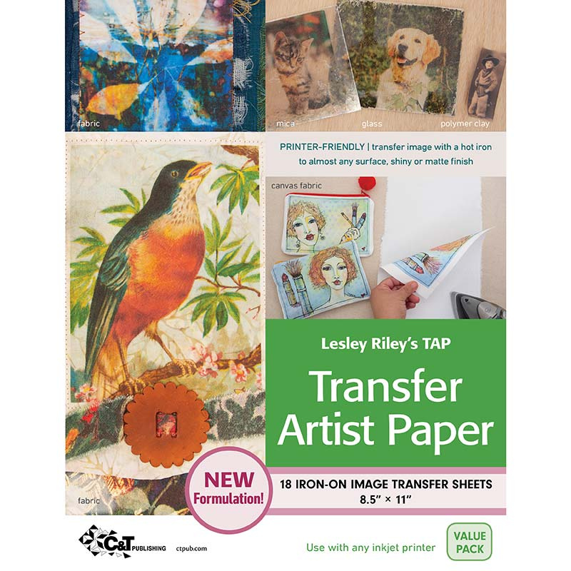 TAP Transfer Artist Paper 18 Sheet Value Pack by Lesley Riley