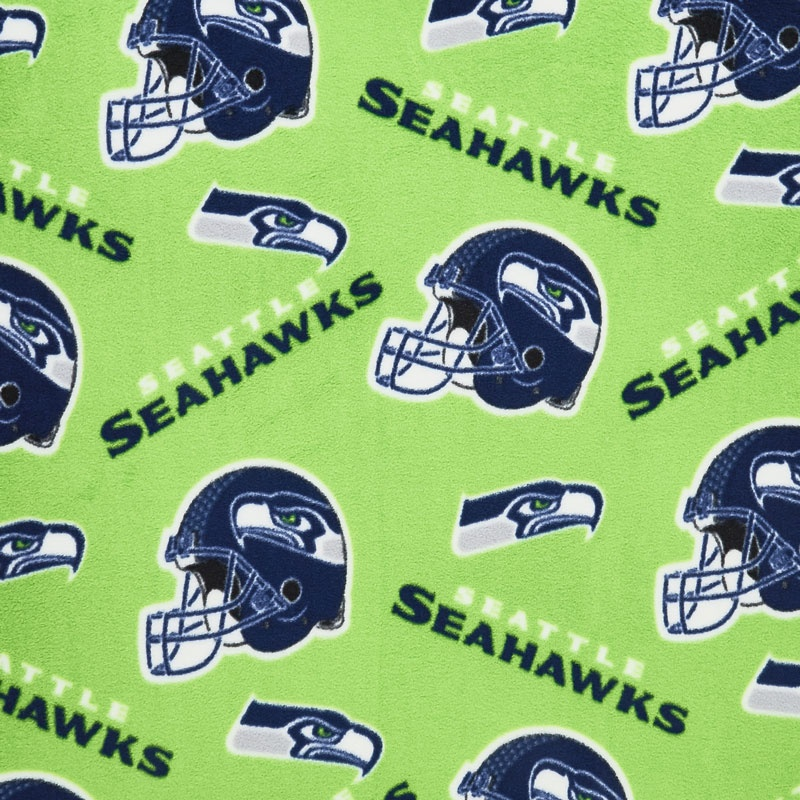 the best attitude 53c96 f4c46 NFL Fleece - Seattle Seahawks Lime Green Yardage