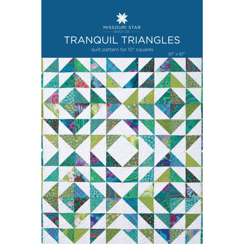 Tranquil Triangles Quilt Pattern By Missouri Star Missouri Star