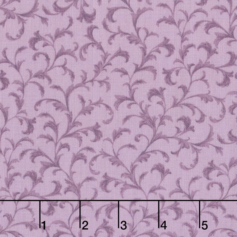 Meredith - Leaves Purple Yardage