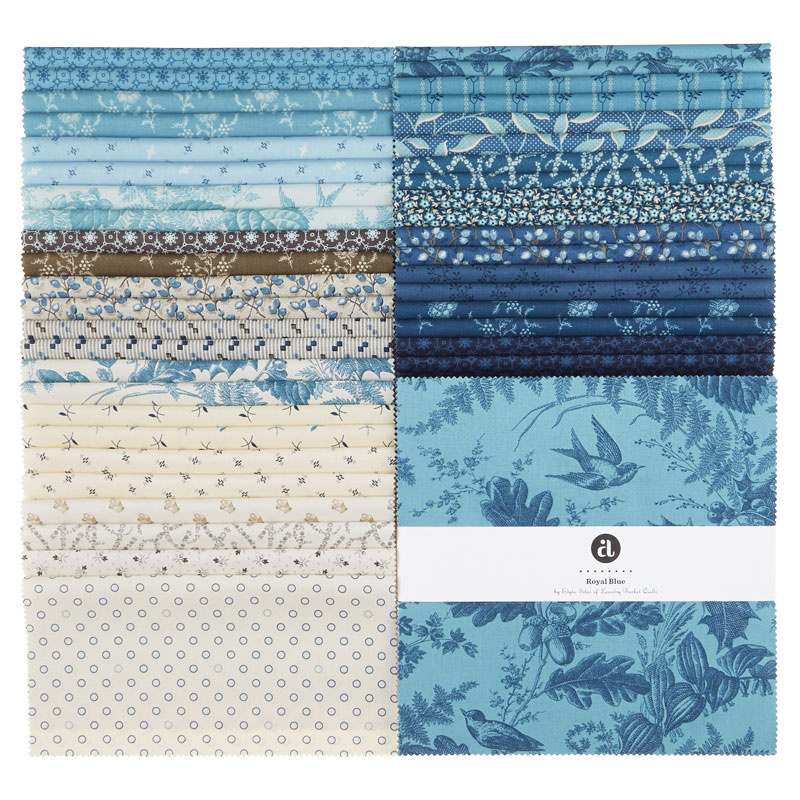 20 10x10 SEA OF BLUE LAYER CAKE Pack-20 different patterns//colors-1 of each