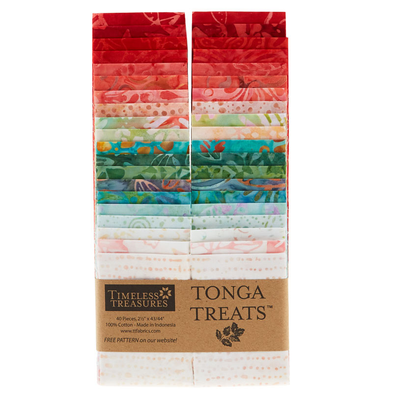 Tonga Treats Batiks - Poppy 2.5