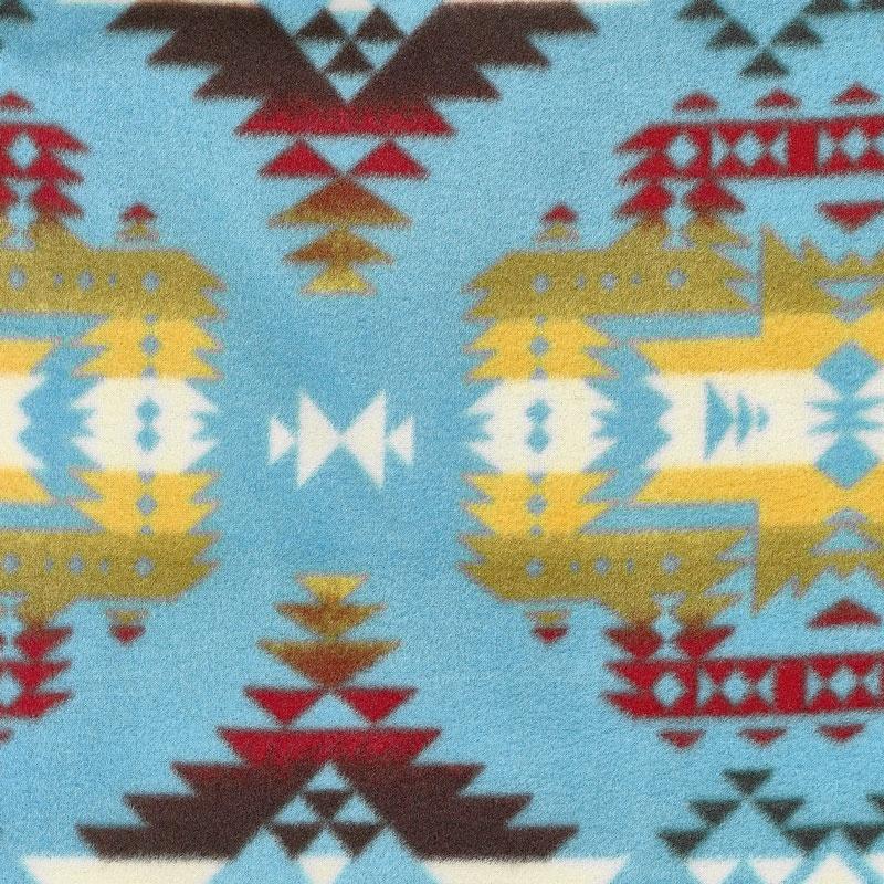 Winterfleece Prints Southwest - Canyon Turquoise Fleece Yardage