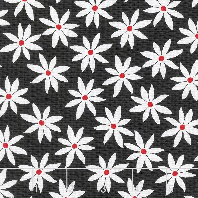 Cherry Twist - Daisy Dot White/Red Yardage