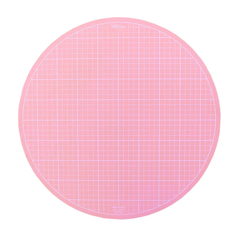 Sue Daley 10 Quot Round Rotating Cutting Mat Pink Sue