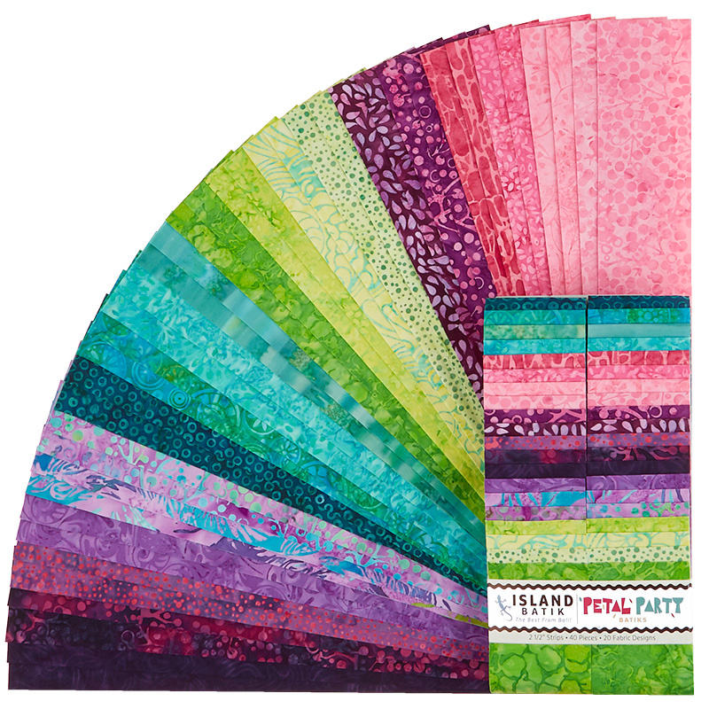 Petal Party Batiks Strips