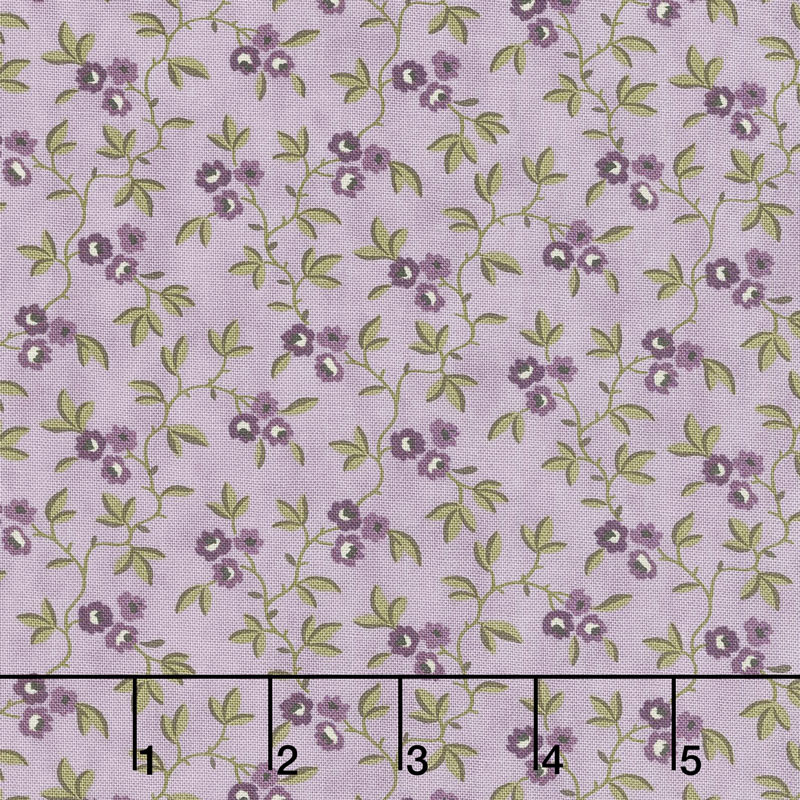 Clover Meadow - Vines & Flowers Lilac Yardage