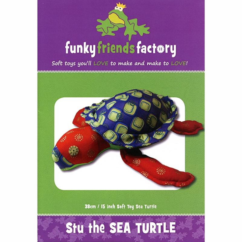 Stu Sea Turtle Funky Friends Factory Pattern