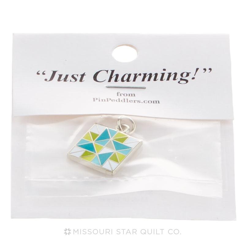 Spinning Star Charm Green & Blue