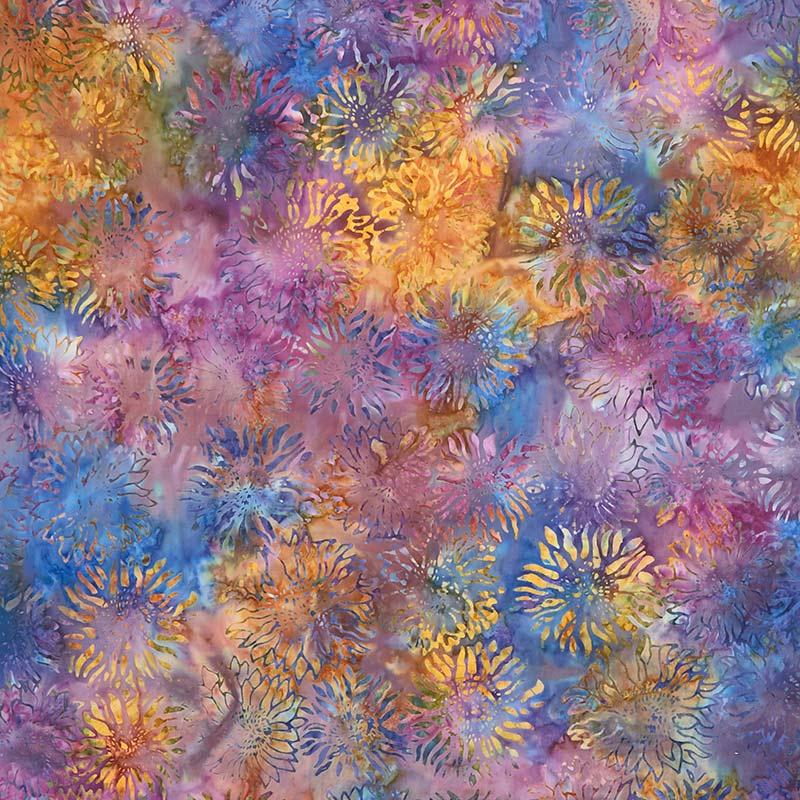 Artisan Batiks - Inspired by Nature Sunflowers Nature Yardage