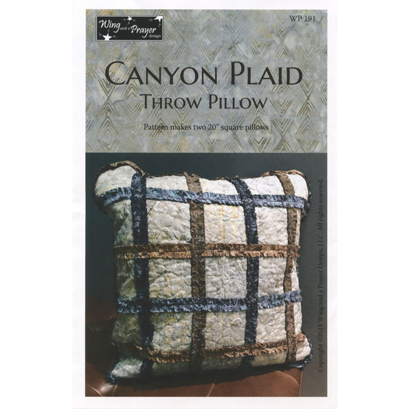 Canyon Plaid Pillows Pattern