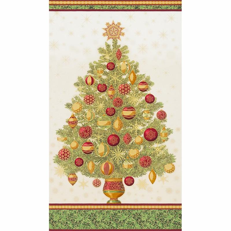 Winter\'s Grandeur - Holiday Christmas Tree Metallic Panel - Studio ...