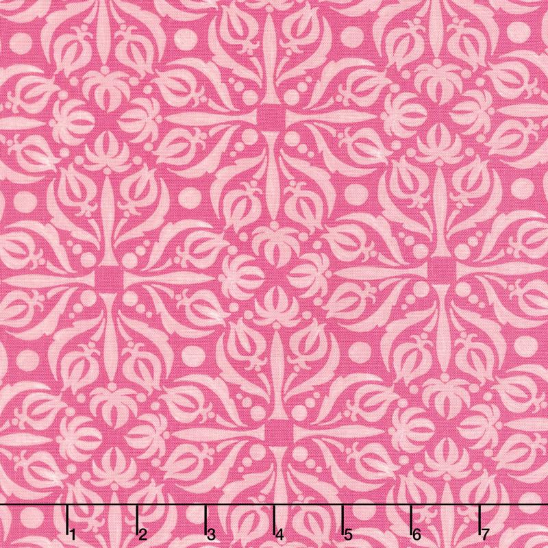 Sweet Pea & Lily - Fancy Medallion Rose Yardage