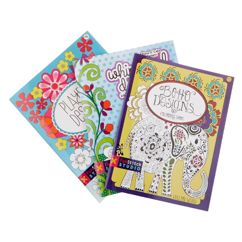Coloring Book Trio - Have fun with design and color!