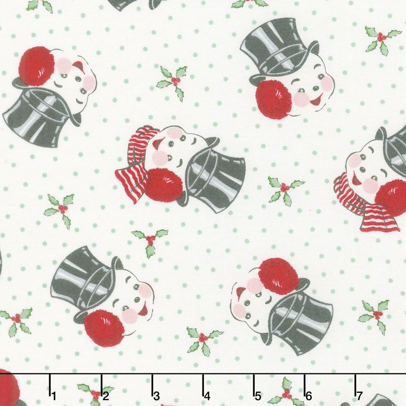 Sweet Christmas - Mr. Snowman Marzipan Yardage