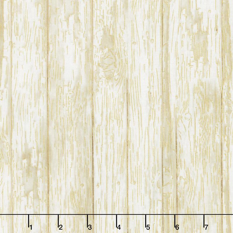 Fall Foliage - Wood Paneling Milk Metallic Yardage