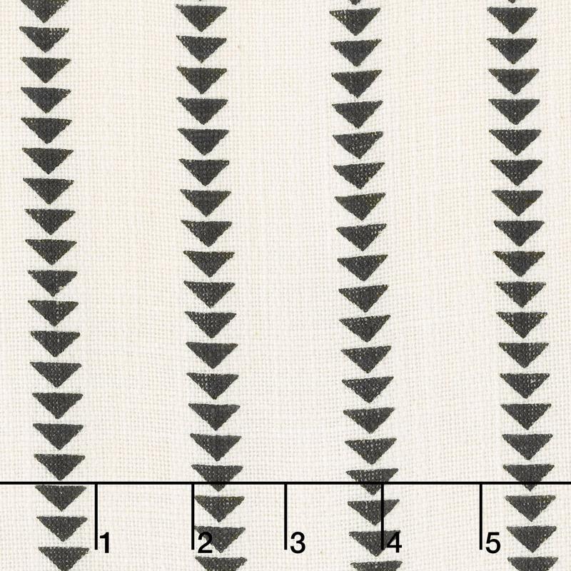 Urban Cottage - Wovens Slub Triangle Stripe Ivory Black 54