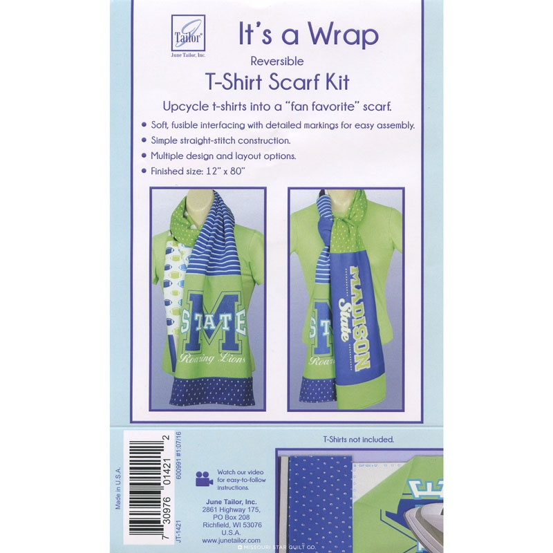 It's a Wrap T-Shirt Straight Scarf Pattern