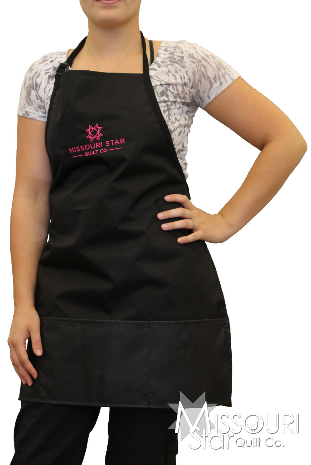 MSQC Black Custom Apron with Pockets