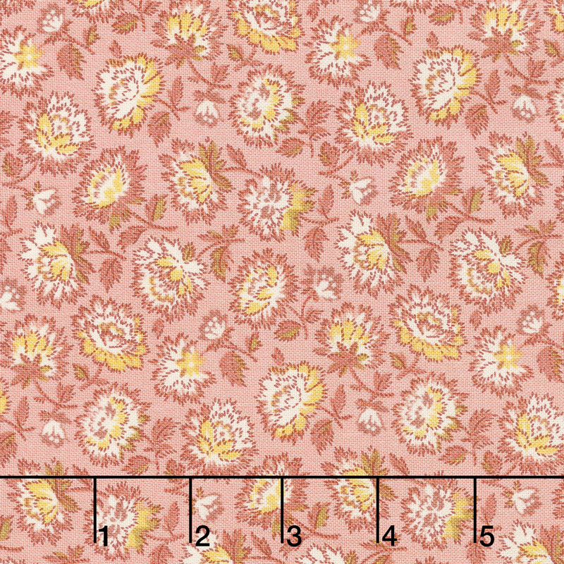 Bed of Roses - Geranium Primrose Yardage