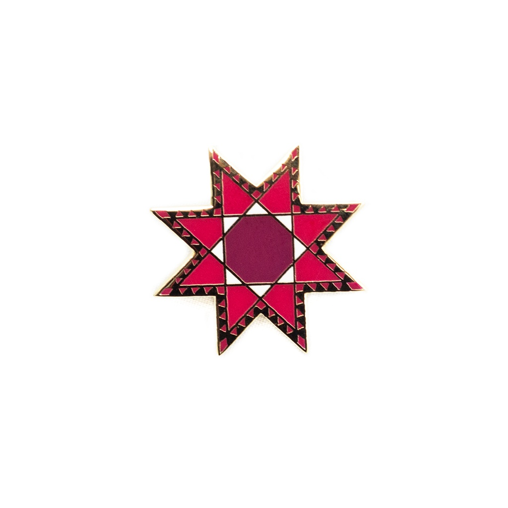 Feathered Star Pin by Pin Peddlers